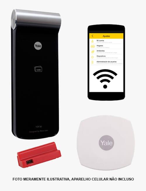 Fechadura Biométrica Yale YDF 40 RL Com APP de Smartphone