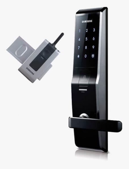 Fechadura Biométrica Samsung SHS H705 + Controle Remoto