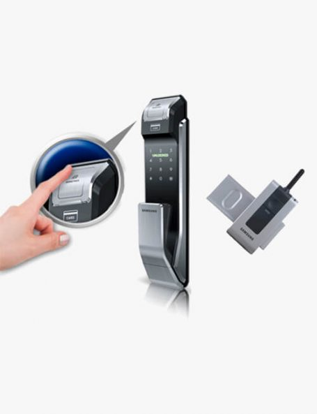 Fechadura Biométrica Samsung SHS P718 + Controle Remoto